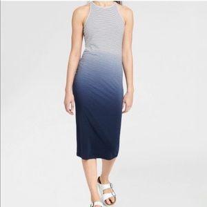 ATHLETA Sunkissed Ombre Striped Midi Tank Dress